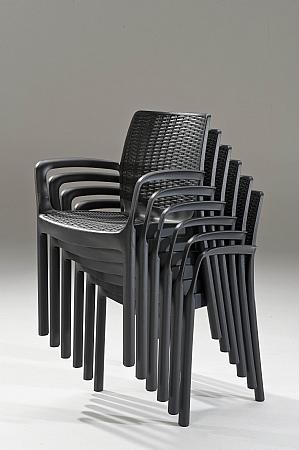 מאוד כסא דגם באלי דמוי ראטן - כתר פלסטיק | ריהוט חוץ | כסאות SM-91